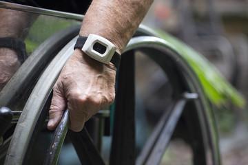 wheelchair closeup