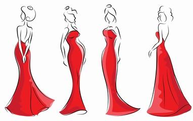 Набор мультфильм модниц