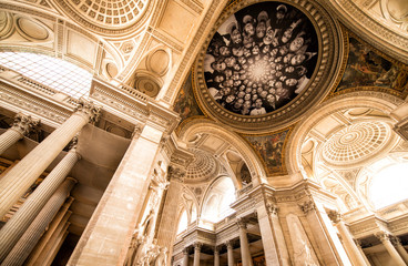 Paris, France - Famous Pantheon interior. UNESCO World Heritage