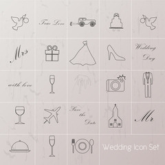 Wedding Planner Icons and Infographics