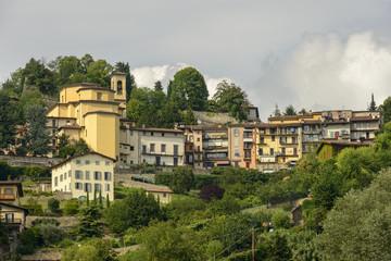 Borgo Canale and its church, Bergamo