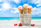 Raspberry Ripple Icecreams