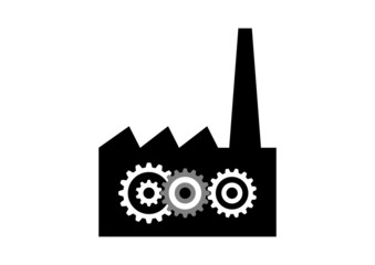 Factory icon on white background