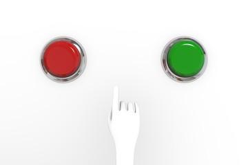 Рука и кнопки