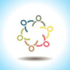 People unity vector icon concept