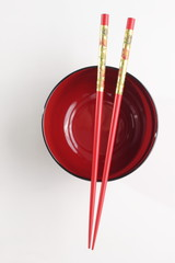 Cups and chopsticks