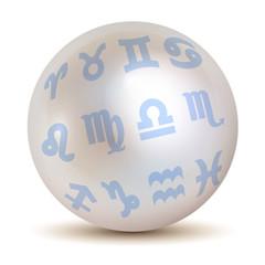 Perle Zodiac Sternzeichen