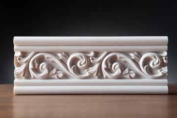 White elements of interior decoration, wall design