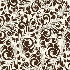 Khohloma style seamless floral pattern.