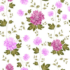 Seamless pattern on fabric