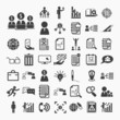 Business icons and Finance icons set.2  on  White paper .Illustr