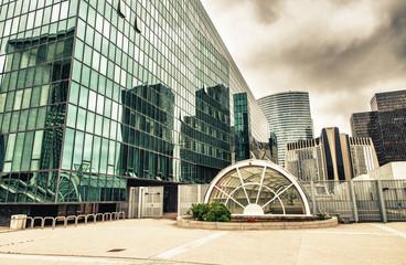 PARIS, JUNE 17: Modern buildings in the major business district,