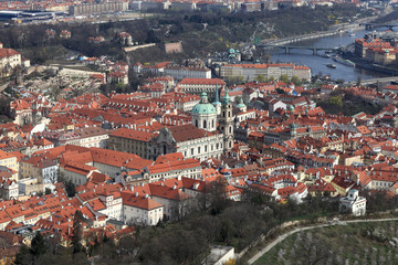 Landscape of Prague from Petrin hill