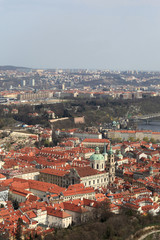 Prague city view from Petrin hill