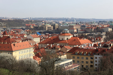 Prague landscape in spring