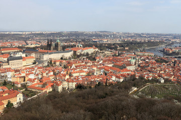 Prague skyline from Petrin hill