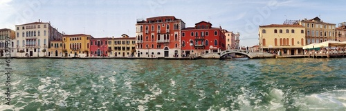 canvas print picture Panorama von Venedig mit Skyline