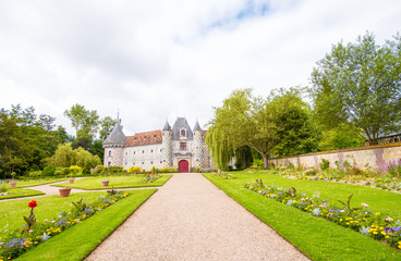 Historical Castle of Normandy, France. Chateau de Vendeuvre in N