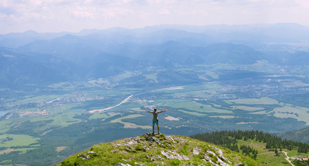Man on the top of hill