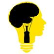 Bulb human head symbol, vector