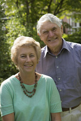 Portrait of an elderly couple both in their seventies