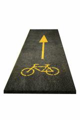 Fahrradweg_Asphalt Teil_isoliert