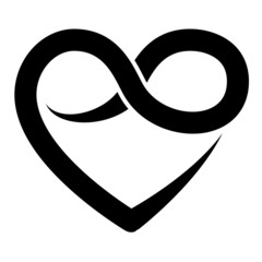 Infinity heart symbol, forever, vector