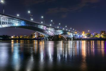 Night view of Poniatowski bridge
