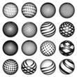 planet symbols, vector