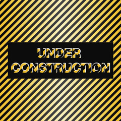 under construction sign; vector