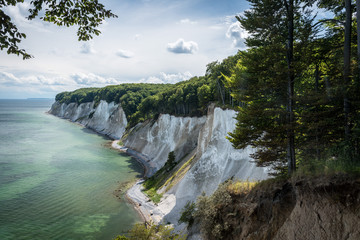 Chalk Cliffs in the National Park Jasmund, Rügen, Baltic Sea, M