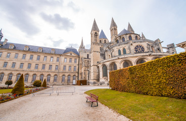 Chateau Ducal, a castle in the center of the city Caen, France