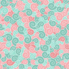 Vector emerald seamless pattern curl.