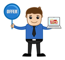 Salesman Offering Food - Discount and Coupon Concept