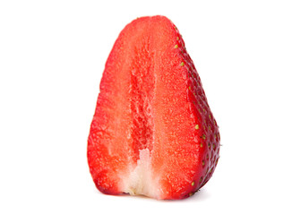 Strawberry closeup slice