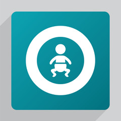 flat baby icon.