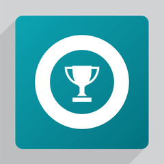 flat winner cup icon.