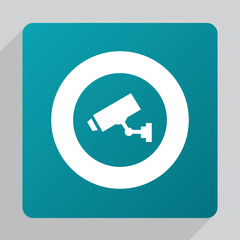 flat security camera icon.