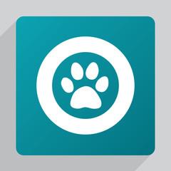 flat cat footprint icon.