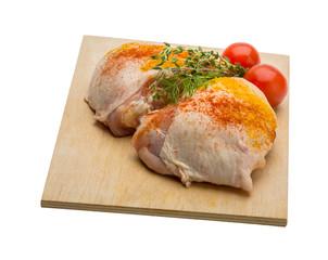 Raw chicken thigh