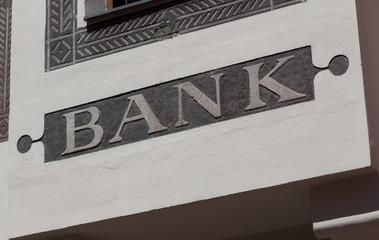 Enseigne bancaire