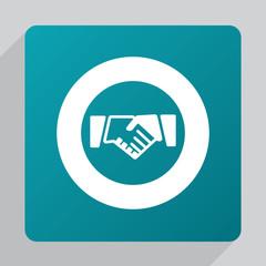 flat Handshake icon.