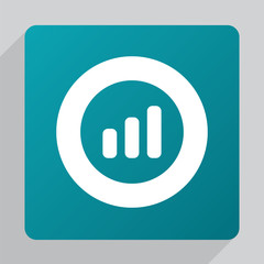 flat business diagram, chart icon.