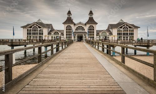 Leinwandbild Motiv Famous Pier of Sellin, Rügen, Baltic Sea, Mecklenburg-Western P