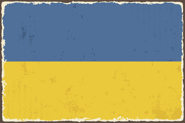 Ukrainian grunge flag. Vector illustration