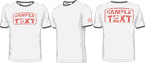 Fototapety Front, back and side views of t-shirt. Vector