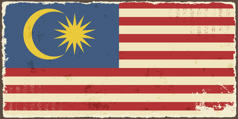 Malaysian grunge flag. Vector illustration