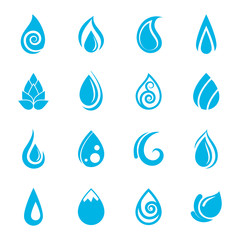 Blue Water Drops Icons
