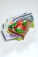 Essen und Geld