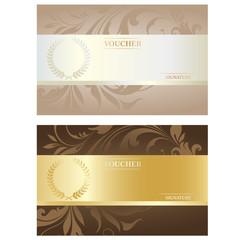 Vector Voucher Card